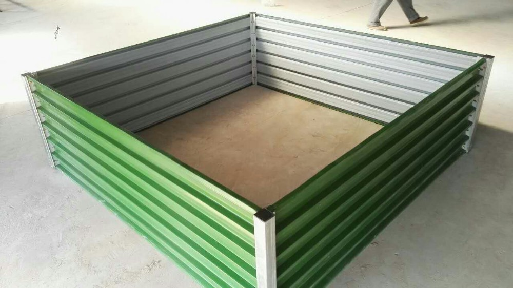 Diy Raised Metal Garden Bed Vegetables Garden Cheap No Dig