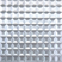 3*3 silver mirror tile beveled crysta glass mosaic home deco