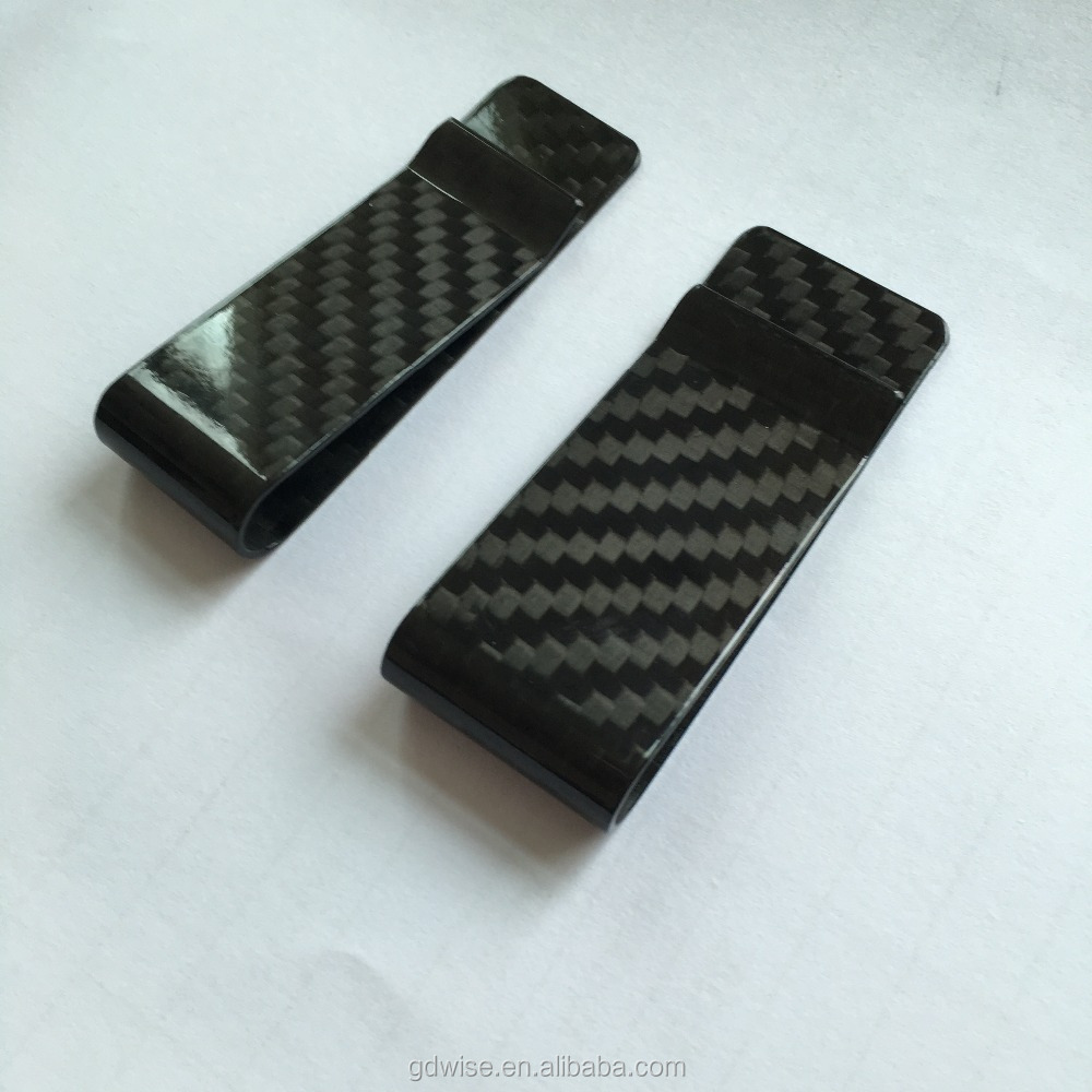 hot sell Rohs test Carbon fiber cash bill credit card holder money clips