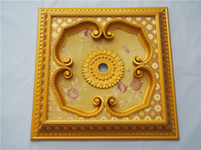 Luxury square ceiling medallion hall ps ceiling pop design