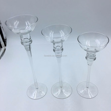 Tall long-stemmed bella candle holders/glass candle holders in different sizes