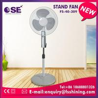 height adjustable household solar rechargeable stand fan with led light with CE certificate