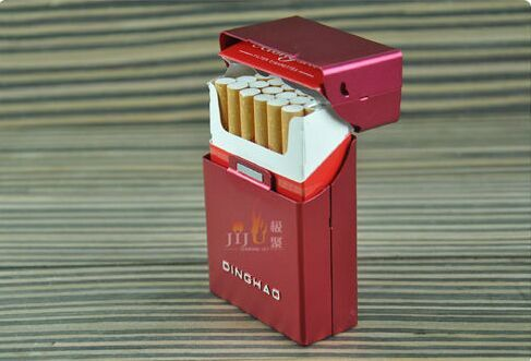 JL-050N Gift Box Pack Smoking Tobacco Products Metal Cigarette Case