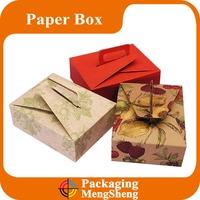New premium kraft food box lunch box packaging kraft paper box