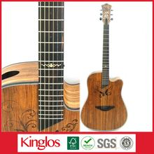 Special Design Good Quality Artistic Colorful Acoustic Guitar Made of Solid Spruce Wood Mod for Beginers (S41U-011-027)