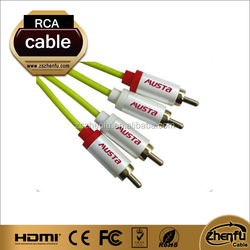 High quality 2 RCA to 2 RCA audio cable with cheap prices