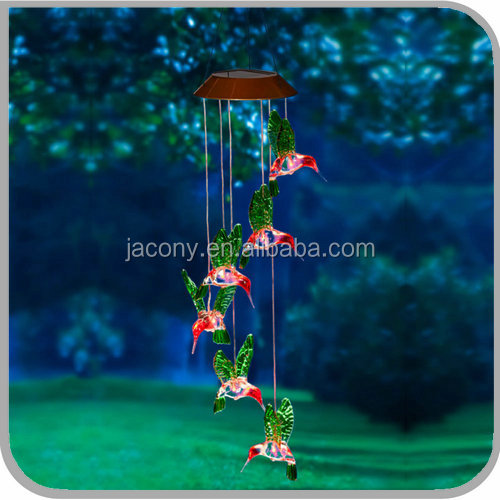 Hummingbird Wind Chime Garden Lights solar garden led (JL-2640G)
