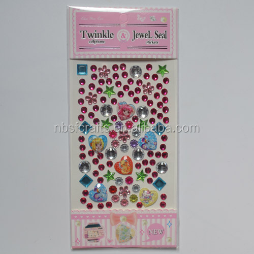 New hot-sale Cheap price acrylic jewel mobilephone diamond sticker