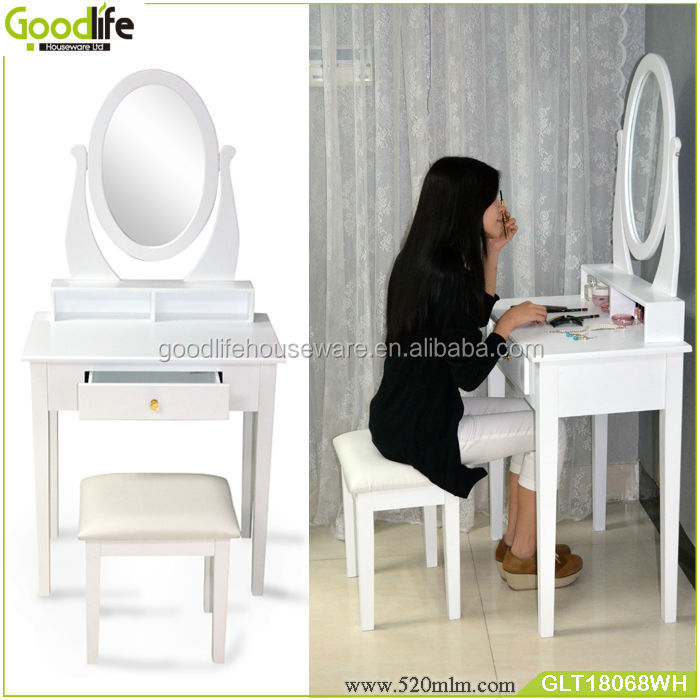 Vanity table simple design mirror furniture dressing table
