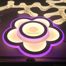 Decorative flower RGB colorful lights dimmable led ceiling lamp