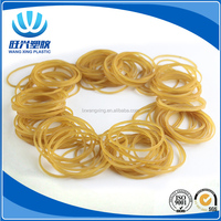 Flat Transparent Yellow Color Unbreakable Elastic Silicone Natural Rubber Band For Money, Durable Natural Rubber