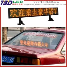 Remote control semi-outdoor led taxi display,led running message sign led car display screen