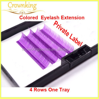 purple color eyelash extension in korea mink material