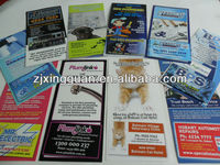 DL card paper flyer with fridge magnet BUSINESS CARD