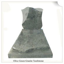 Buy Cheap Traditional Olive Green Granite Funeral Monument