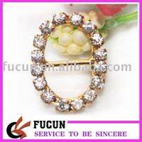 10mm oval shape rhinestone slider buckles