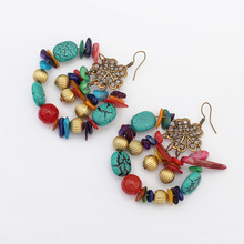 Artilady wholesale colorful Handmade beaded jewelry fashion retro circle earrings , accessories for making earring customized ac