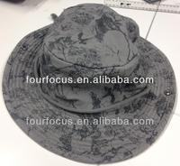 adult printed cotton twill bucket hat