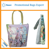 canvas tote bag leather handles canvas bag wholesale korean canvas bag