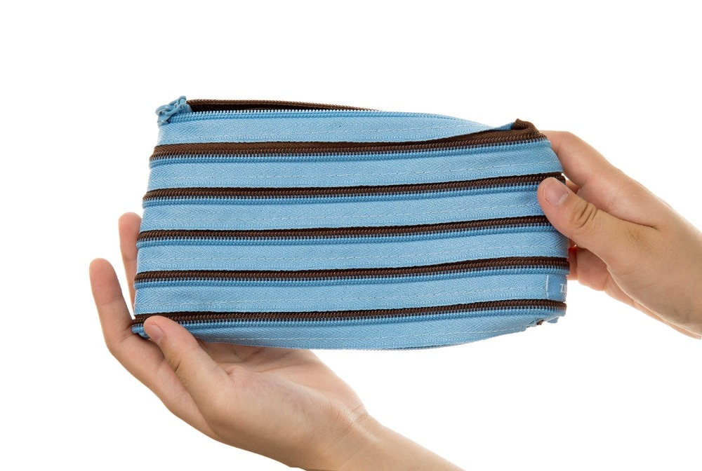 Hot selling fashion wholesale cute large zip pencil case