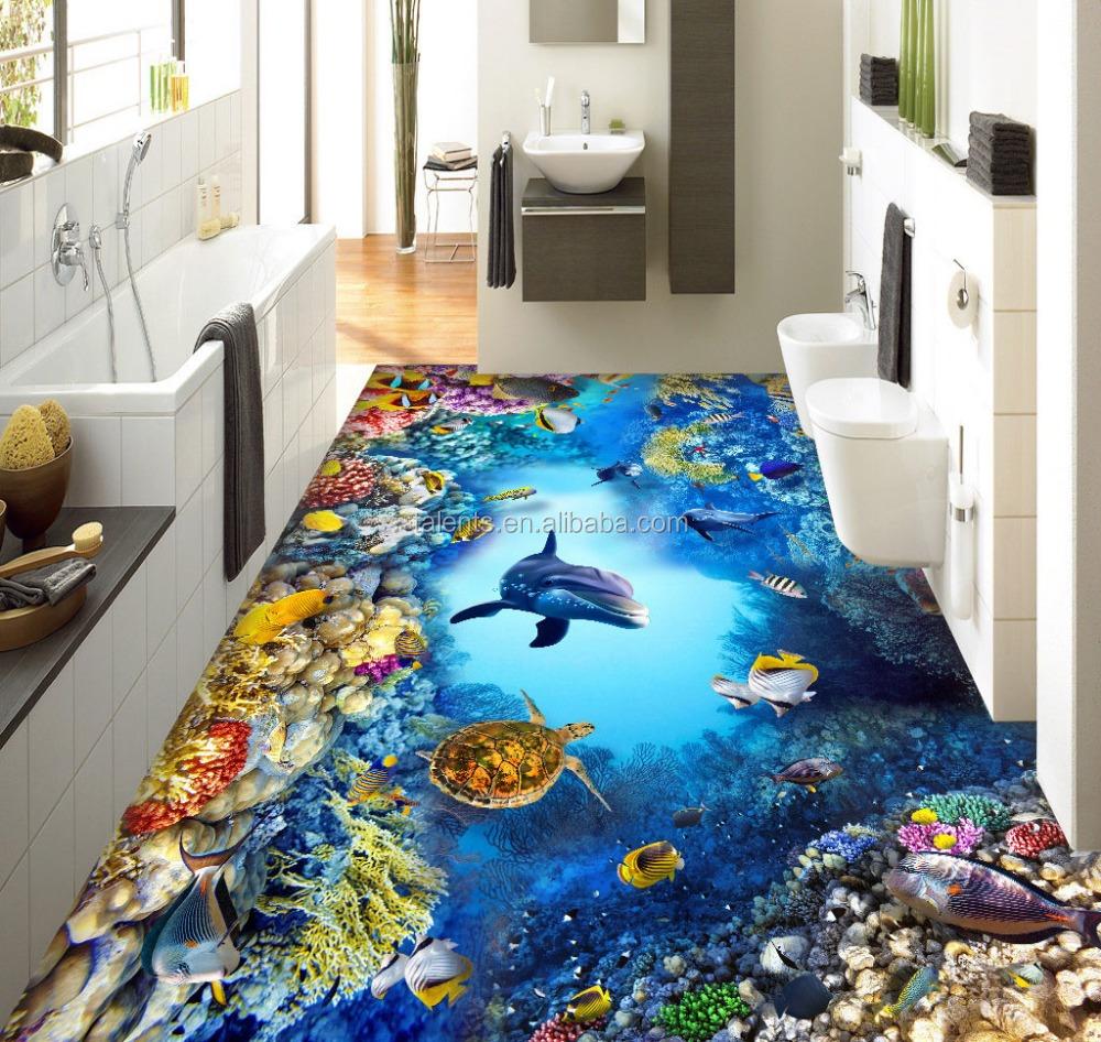 Hot Design Ceramic 3d Flooring Tilesinterior Ocean Pattern Floor