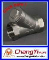 stainless steel strainer with thread,GB standard,non return valve