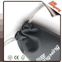 Professional design high quality leather drawstring jewelry pouch