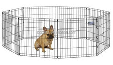 Secure Collapsible Single Black Metal Door Pet Cage