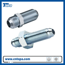 6Q carbon steel metric male 74 degree cone bulkhead hydraulic fitting bulkhead fittings