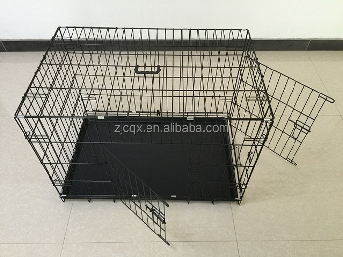 double coor mesh folding metal wire rabbit cage
