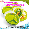 3-compartment meal prep plastic microwave portion control plates section divided containers with air vented lids