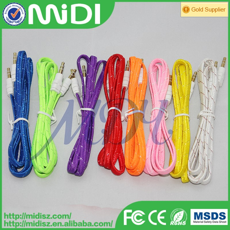 Wholesale 3.5mm audio cable Car audio Cable For iPhone for samsung