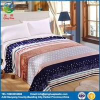 Polyester light blue flannel throw blankets