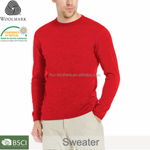 Merino Wool Men's sweater fit wool thermal sweater