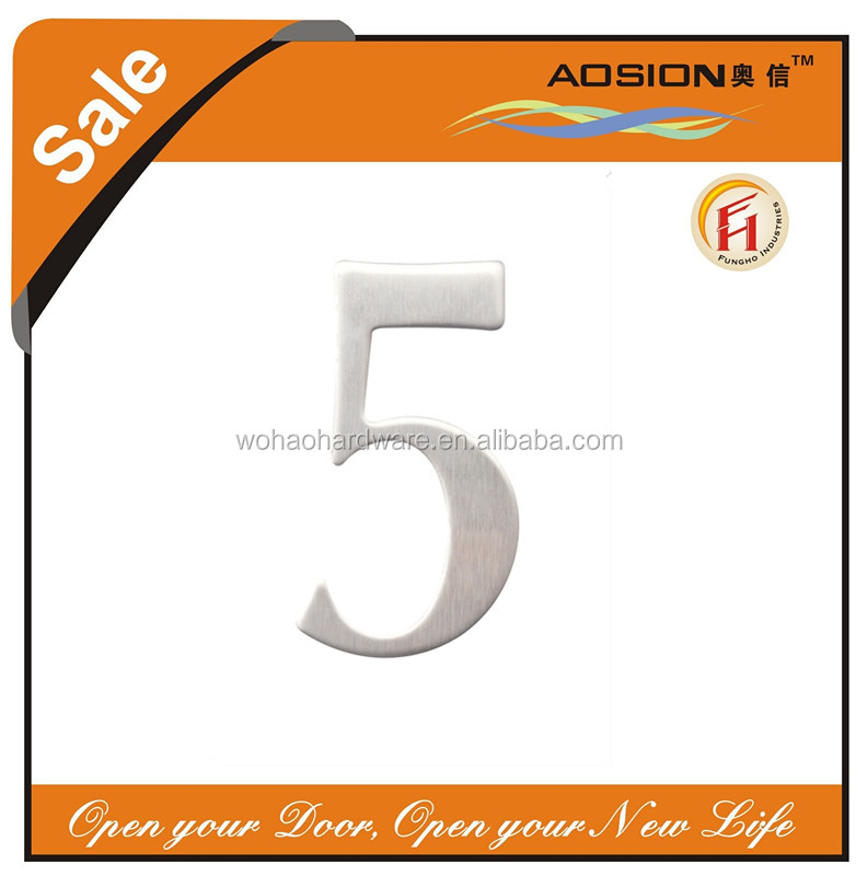 number plate punching 3m adhesive type sticky stainless steel 304 door house hotel room letters brass numbers plates