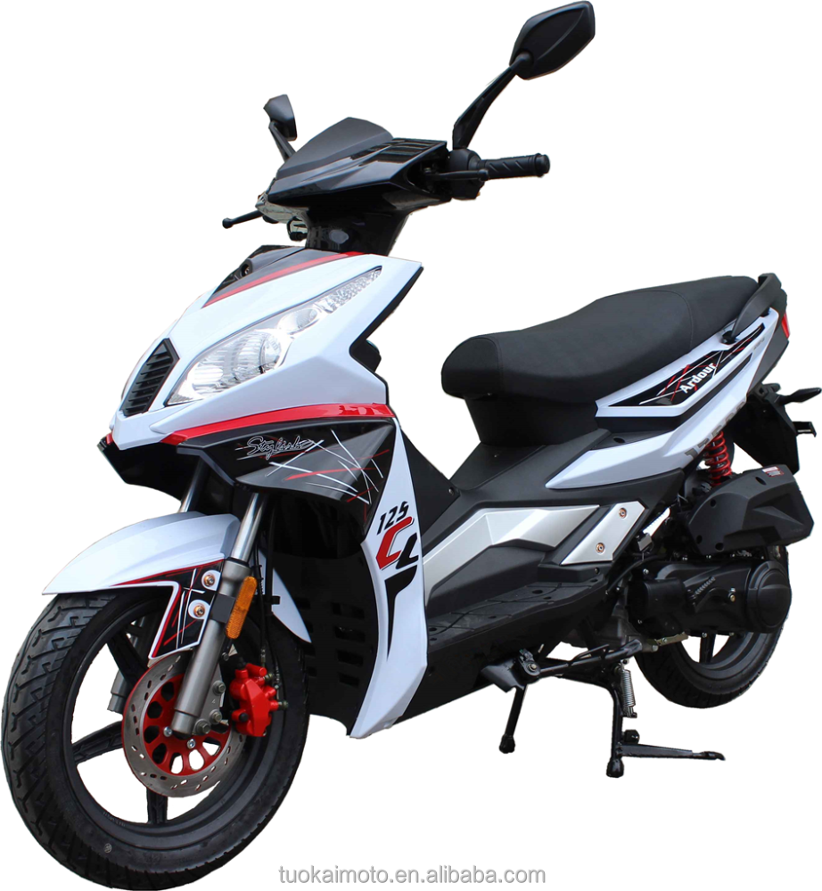 "fashionable sport scooter 125cc Euro4 petrol scooter with 14"" big wheels/gasoline 125cc EEC scooter (TKM125E-A4)"