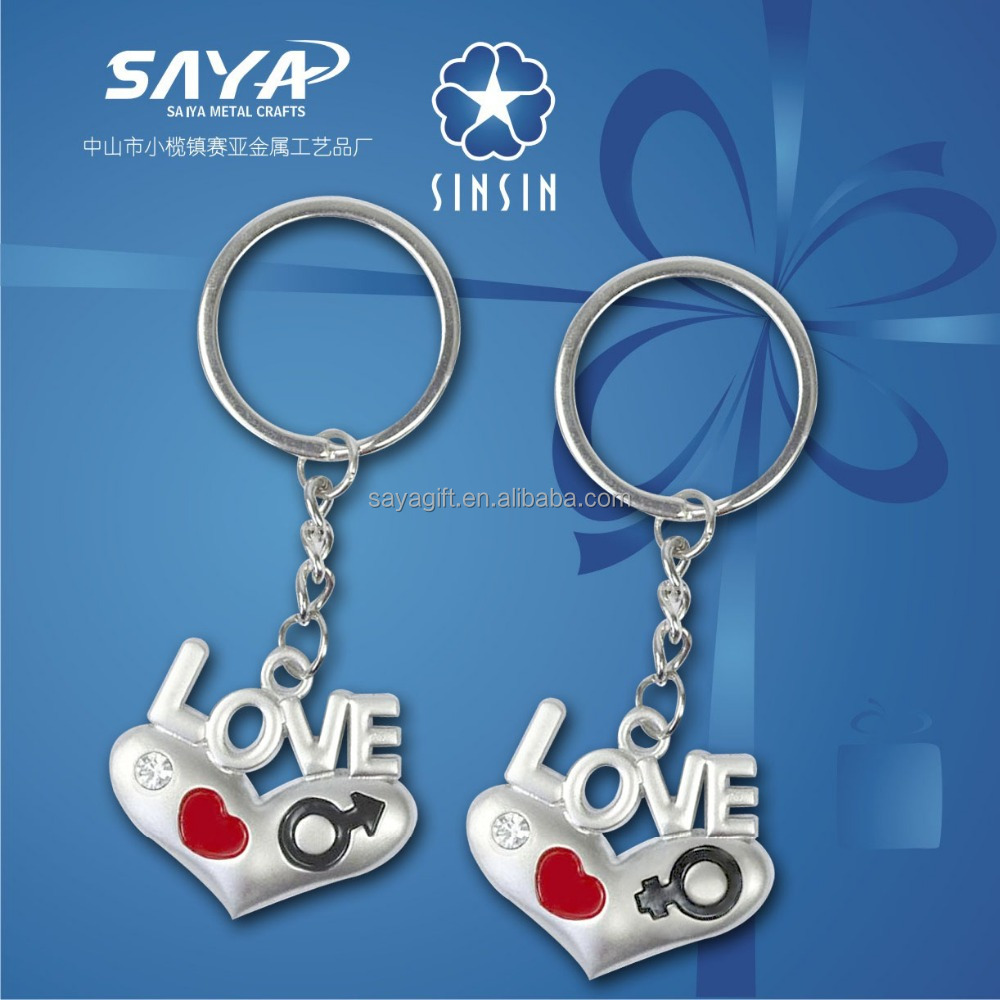 beautiful couple love keychain for boy girl friend 2016