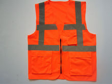 simple safety vest for biking with zipper and pockets