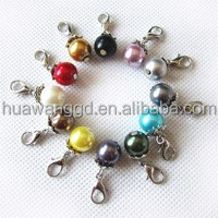 Hot sale birthstone color pearl drop dangle floating charm