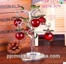 beautiful crystal apple tree for gift & decoration favors