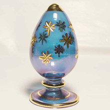Easter Eggs - 14k gold decorated glass Egyptian Easter Eggs