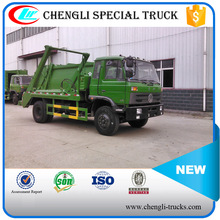 CLW DONGFENG 170hp 4*2 10CBM Swing Arm Garbage Collect Truck