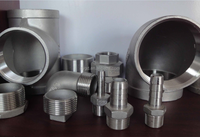 Casting Stainless Steel Screwed Pipe Tee, ELBOWS, STREET ELBOWS with NPT Female Thread