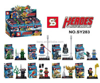 SY283super heroes Green Arrow Mr. Cold Black Manta Hakwman Superman Batman 8pcs building block sets