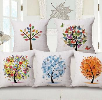 m 0003 amazon top sell designer home decor wholesale tree pritned pillow covers pillowcase - Amazon Home Decor