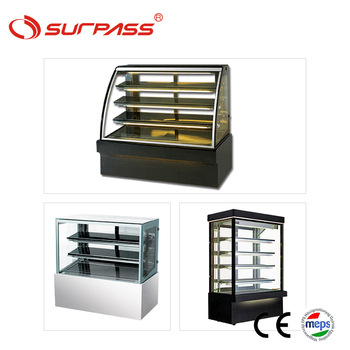 Commercial bakery display showcase price curve cake case