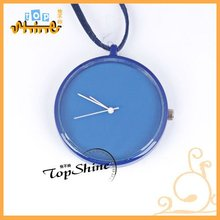 D01119o 2012 fashion wholesale candy color pendant with wax cord pocket watch necklace