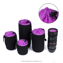 New Arrival Factory Price Shockproof Soft Neoprene DSLR Camera Lens Pouch Bag Case