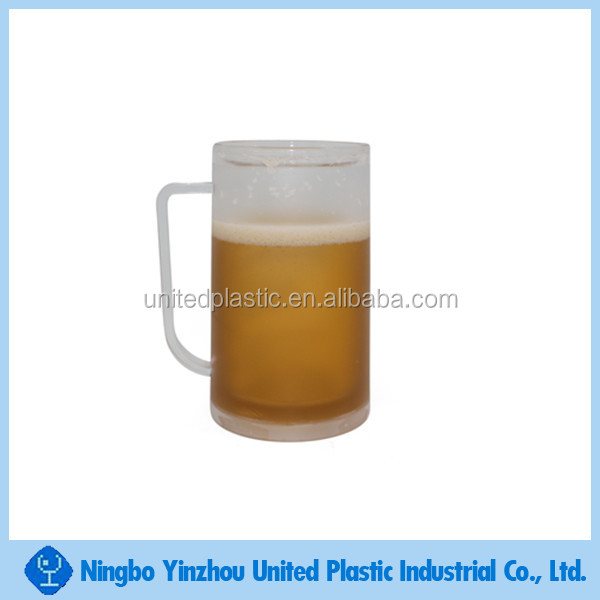 Double wall freezer frosty cup liquid mug for beer drinking