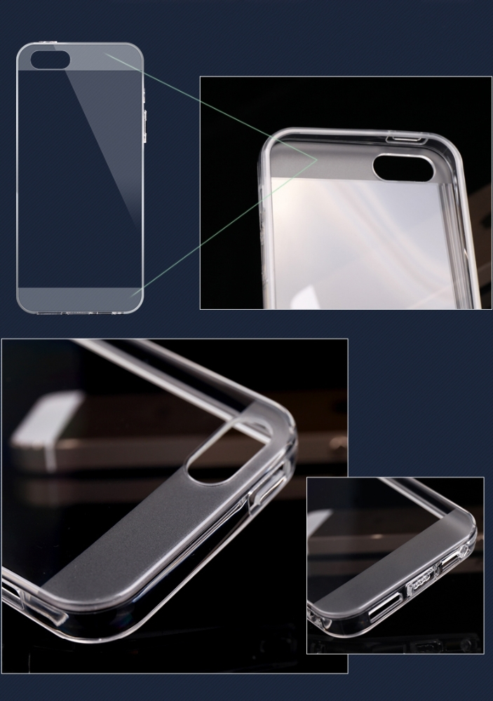BRG New Products 2016 0.8mm Crystal Clear Soft Silicone Transparent TPU Case Cover for IPhone 5 Silicon Back Cover